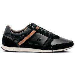 Giày Thể Thao Lacoste Menerva Leather Màu Đen
