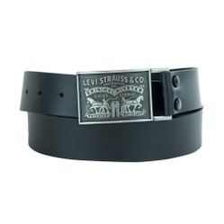 Thắt Lưng Levi's Men's 1 1/2 in.Plaque Bridle Belt With Snap Closure Black
