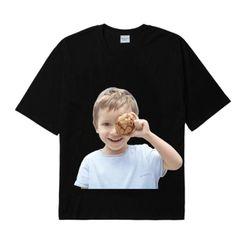 Áo Phông Acme De Lavie  ADLV Hàn Quốc Baby Face Short Sleeve T-Shirt Black Cookie Màu Đen