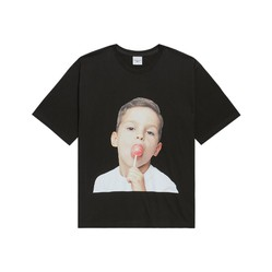 Áo Phông Acme De Lavie  ADLV Hàn Quốc Baby Face Short Sleeve Black Candy Màu Đen