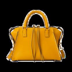 Túi Xách Zara Dập Đinh Tán Màu Vàng Mù Tạt - 1130/004