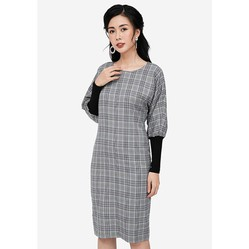 Váy Suông Heradg Tay Dài Caro Màu Xám