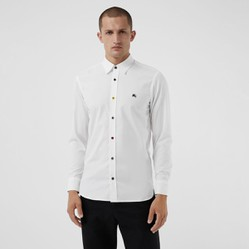 Áo sơ mi Burberry Contrast Button Stretch Cotton Shirt