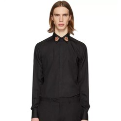 Áo Sơ Mi Dolce & Gabbana Martini Fit In Cotton With Patch Shirt