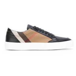 Giày Thể Thao Burberry Checked Suede Calfskin Sneaker