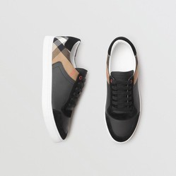 Giày Burberry Checked Suede Calfskin Sneaker