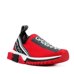 Giày Thể Thao Dolce & Gabbana Red Branded Sorrento Sneakers
