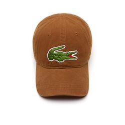 Mũ Lacoste Men's Big Croc Gabardine Cap Brown