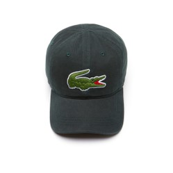 Mũ Lacoste Men's Big Croc Gabardine Cap Green