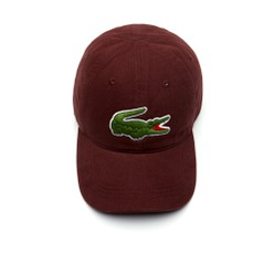 Mũ Lacoste Men's Big Croc Gabardine Cap Red-Brown