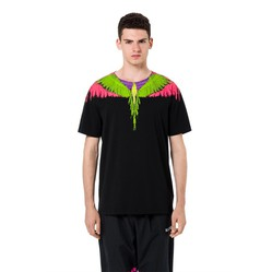 Áo Phông Đen Marcelo Burlon Flou Wings T-Shirt Size S