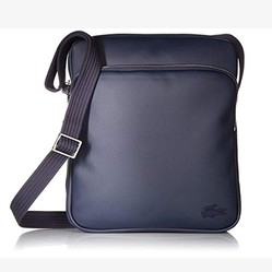 Túi Đeo Chéo Lacoste Men's Classic Petit Pique Double Bag Peacoat Xanh Navy