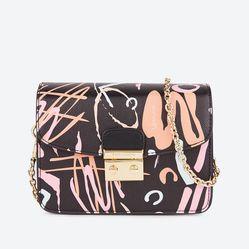 Túi Hộp Mini Venuco - Đen Cam - D07B155
