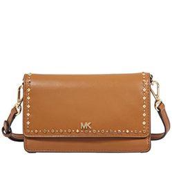 Túi Đeo Chéo Michael Kors Leather Phone Cross-Body Bag- Acorn Cho Nữ