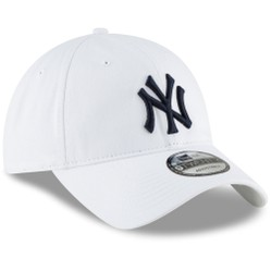 Mũ MLB Men's New York Yankees New Era White Core Classic Secondary 9TWENTY Adjustable Hat