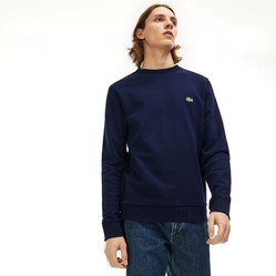 Áo Lacoste Men's Crew Neck Fleece Sweatshirt Navy