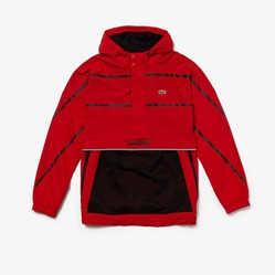 Áo Lacoste Men's Sport Water-Resistant Windbreaker Red