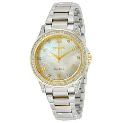 Đồng Hồ Nữ Citizen POV Eco-Drive Mother Of Pearl Dial Ladies Watch EM0234-59D