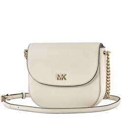 Túi Michael Kors Mott Pebbled Leather Crossbody- LT Cream Cho Nữ