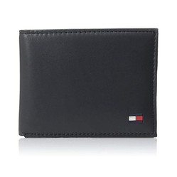 Ví Nam Tommy Hilfiger Men's Thin Sleek Casual Bifold Wallet Black Dore