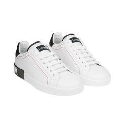 Giày Thể Thao Dolce & Gabbana Calfskin Nappa Portofino Sneakers Size 8.5UK