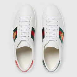 Giày Gucci Men's Ace Embroidered Sneaker White Leather With Bee