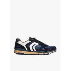 Sneakers Nam Geox U SANDFORD A SUEDE+NYLON Màu Xanh Navy Size 44