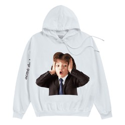 Áo Hoodie ADLV Baby Face Beethoven Màu Trắng