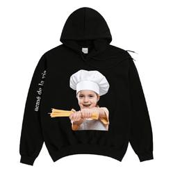 Áo Hoodie Acme De Lavie Baby Face Pasta Màu Đen