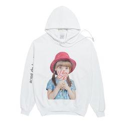 Áo Hoodie Acme De Lavie Baby Face Red Hat Màu Trắng