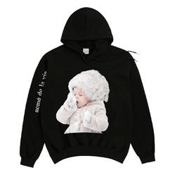 Áo Hoodie Acme De Lavie Baby Face Snow Màu Đen