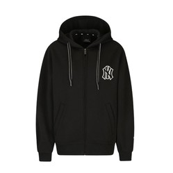 Áo Khoác Nỉ MLB New York Yankees Base Training Zip-Up Màu Đen