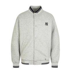Áo Khoác Nỉ MLB New York Yankees Neoprene Baseball In Grey Màu Xám