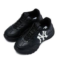 Giày Sneaker MLB Big Ball Chunky A Màu Đen Logo Trắng