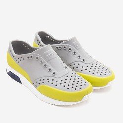 Giày Trẻ Em Native J Lennox Block Junior (12105002) Pigeon Grey/ Shell White/ Regatta Block/ Glo Glow Block - J1