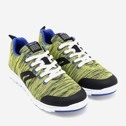 Sneakers Bé Trai Geox J XUNDAY B. L WOVEN TEXT Màu Vàng Chanh Size 37