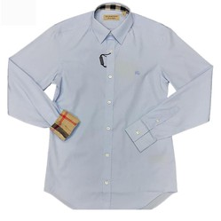 Áo Sơ Mi Burberry London England Pale Blue Long Sleeve Shirt