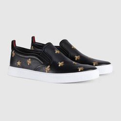 Giày Gucci Leather Slip-on Sneaker With Bees Màu Đen