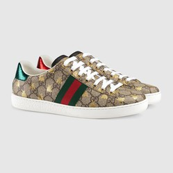 Giày Gucci Women's Ace GG Supreme Sneaker With Bees