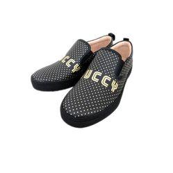 Giày Slip-on Guccy Polka Dot Màu Đen
