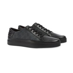 Giày Sneaker Gucci Men's Ace Leather Màu Đen