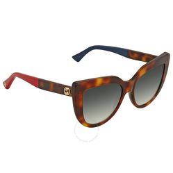 Kính Mát Gucci Grey Gradient Cat Eye Sunglasses GG0164S 004 53