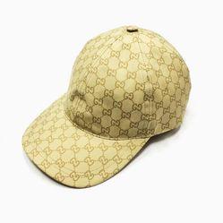 Mũ Gucci Children's Original GG Canvas Hat Vân Mono Màu Vàng