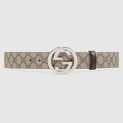 Thắt Lưng Gucci GG Supreme Belt With G Buckle 4cm