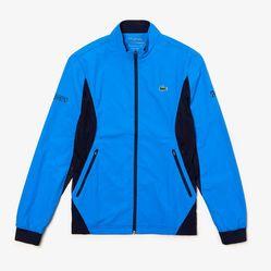 Áo Khoác Nam Lacoste Sport Novak Djokovic Full-Zip Jacket Màu Xanh Blue