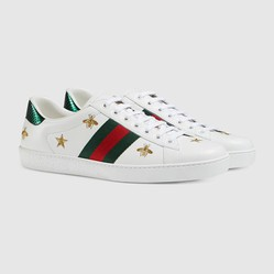 Giày Sneaker Gucci Men's Ace Embroidered Màu Trắng Size 42.5