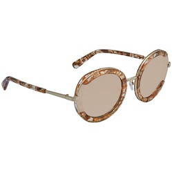 Kính Mát Salvatore Ferragamo Light Grey Shaded Round Ladies Sunglasses