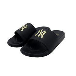 Dép Unisex MLB Đen Logo Vàng Size 41