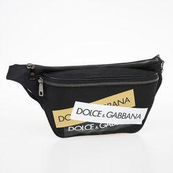 Túi Đeo Hông Dolce & Gabbana Fabric Beltbag Màu Đen Cho Nam