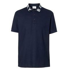 Áo Burberry Polo Logo Intarsia Cotton Piqué Polo Shirt Màu Đen